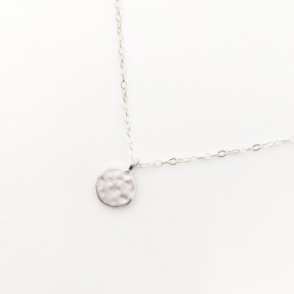 TEXTURED VERMEIL CHARM NECKLACE | STERLING SILVER