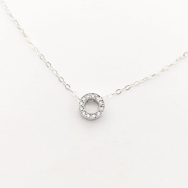STUDDED SPHERE CHARM NECKLACE | STERLING SILVER