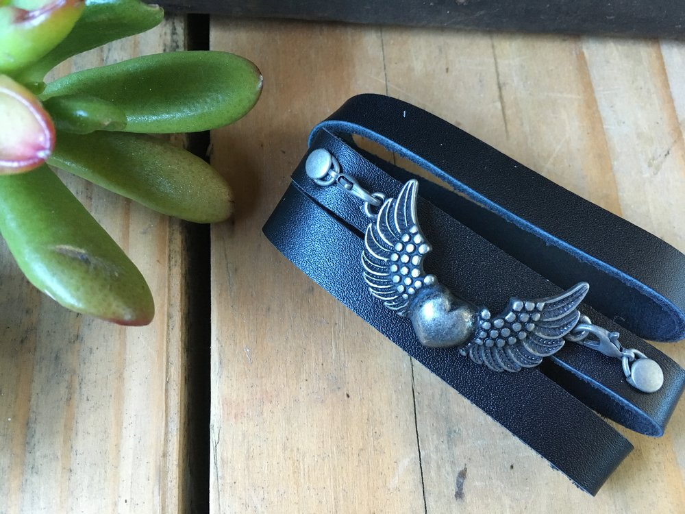 WINGS OF LOVE LEATHER WRAP