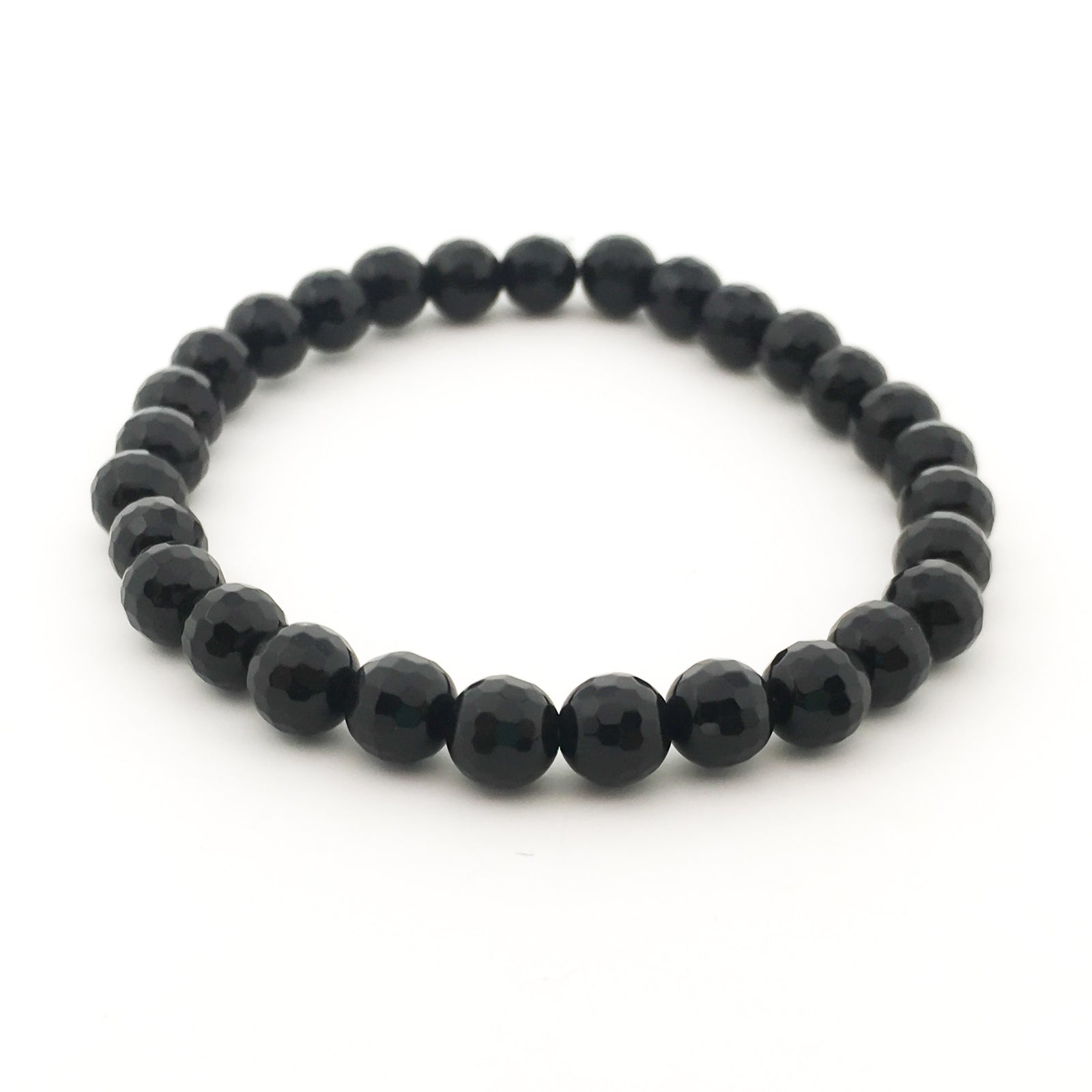 ONYX FACETED STONE BRACELET | 8MM, 6MM