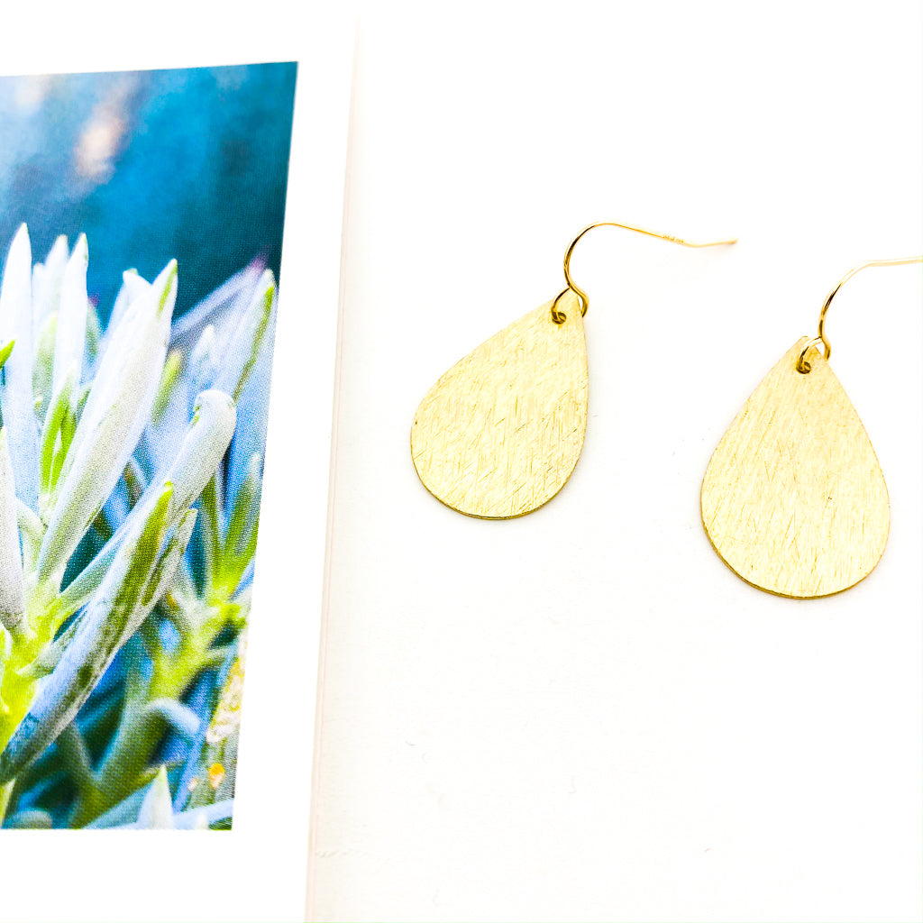 TEXTURED DROP EARRINGS | 14K GOLD-FILLED