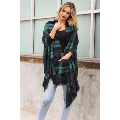 PLAID LONG SLEEVE SHACKET | ASSORTED COLORS