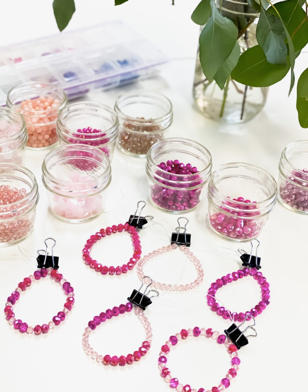 BRACELET MAKING KIT | SHADES OF PINK