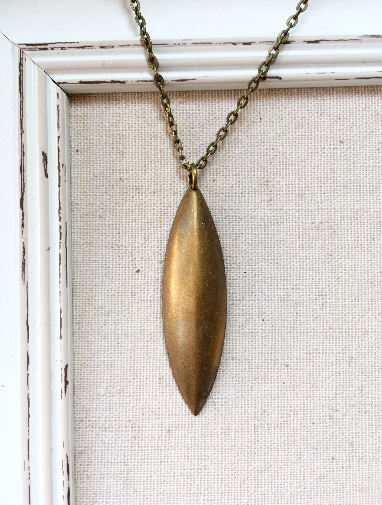 BRONZE LONG SPEAR NECKLACE