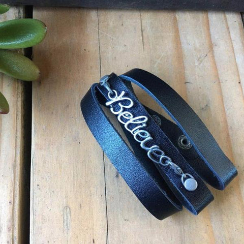 SURVIVOR SOLID LEATHER CUFF