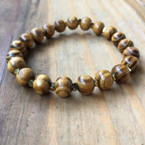 MIDNIGHT SPARKLE WOOD BRACELET
