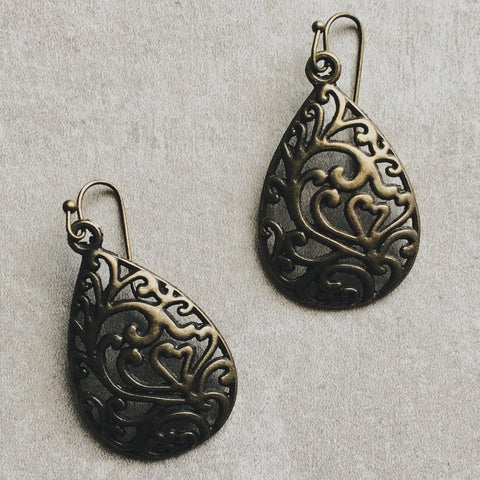 BRONZE WREATH EARRINGS