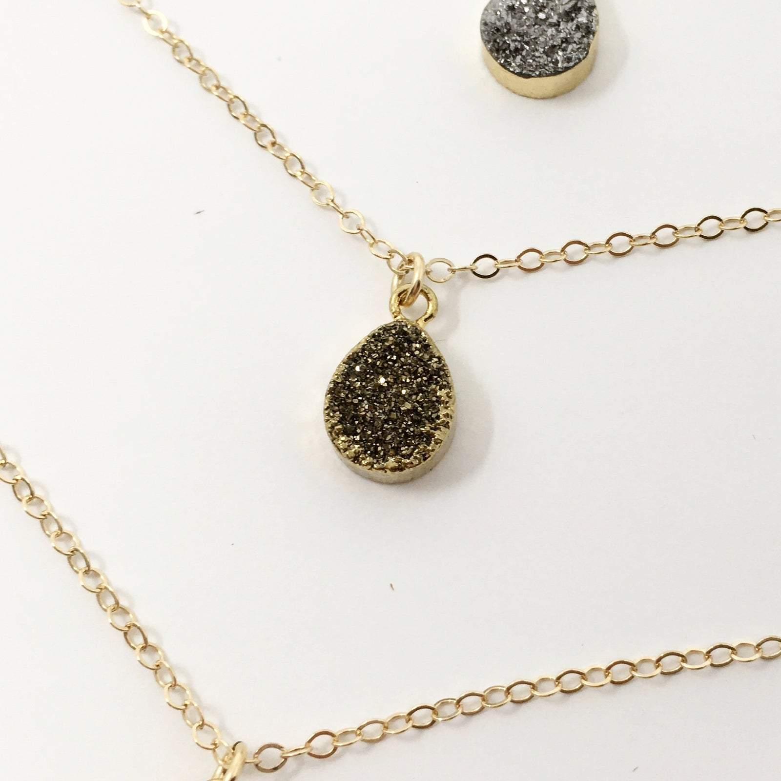STONE 14K GOLD-FILLED NECKLACES | COLOR OPTIONS