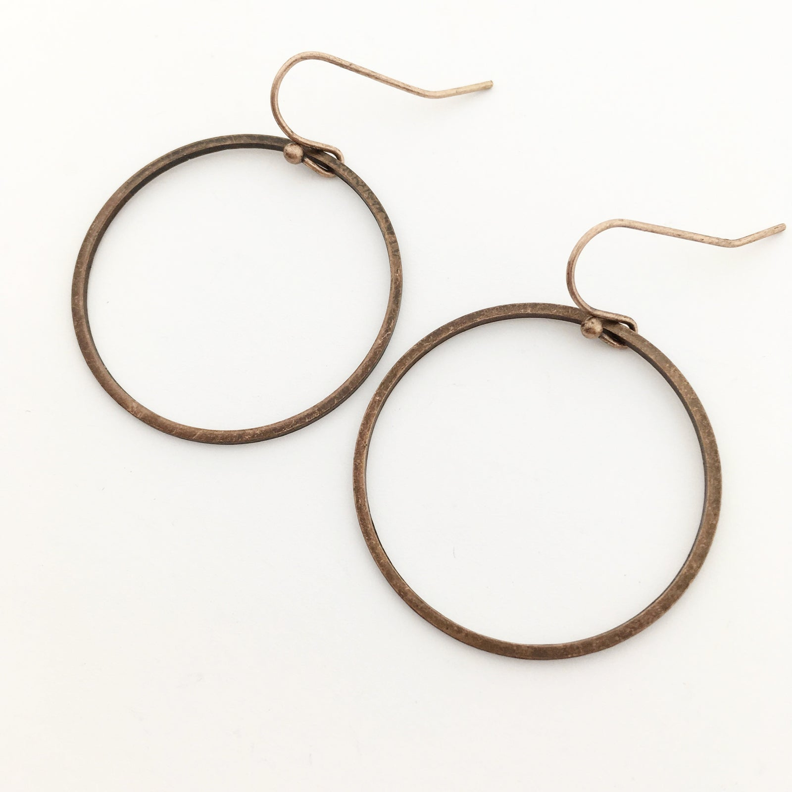 COPPER ENDLESS HOOPS