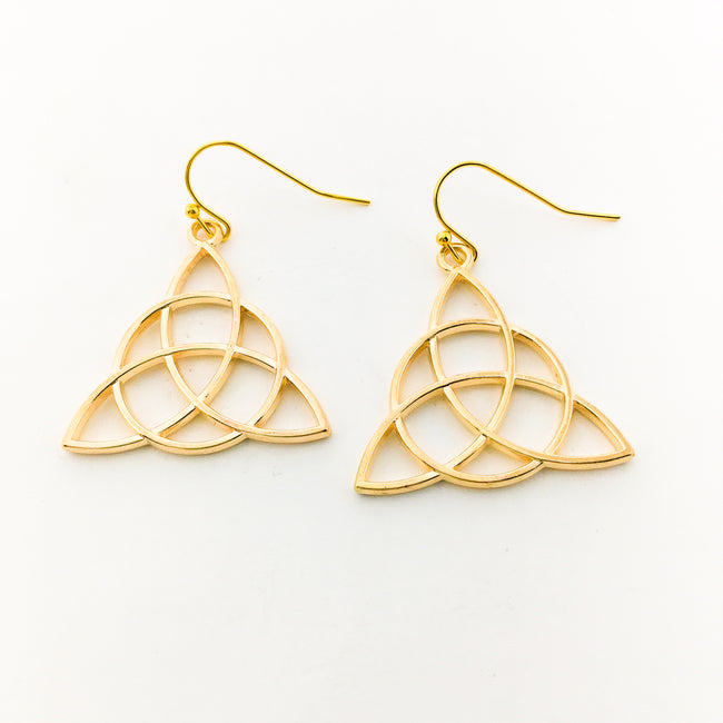 CELTIC KNOT EARRINGS | GOLD