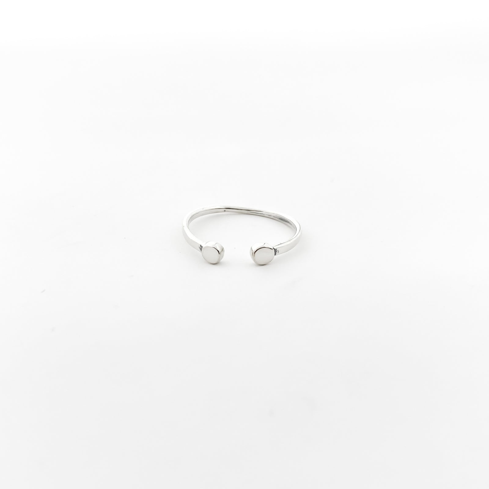 TWIN DOTS RING | SIZE OPTIONS | STERLING SILVER