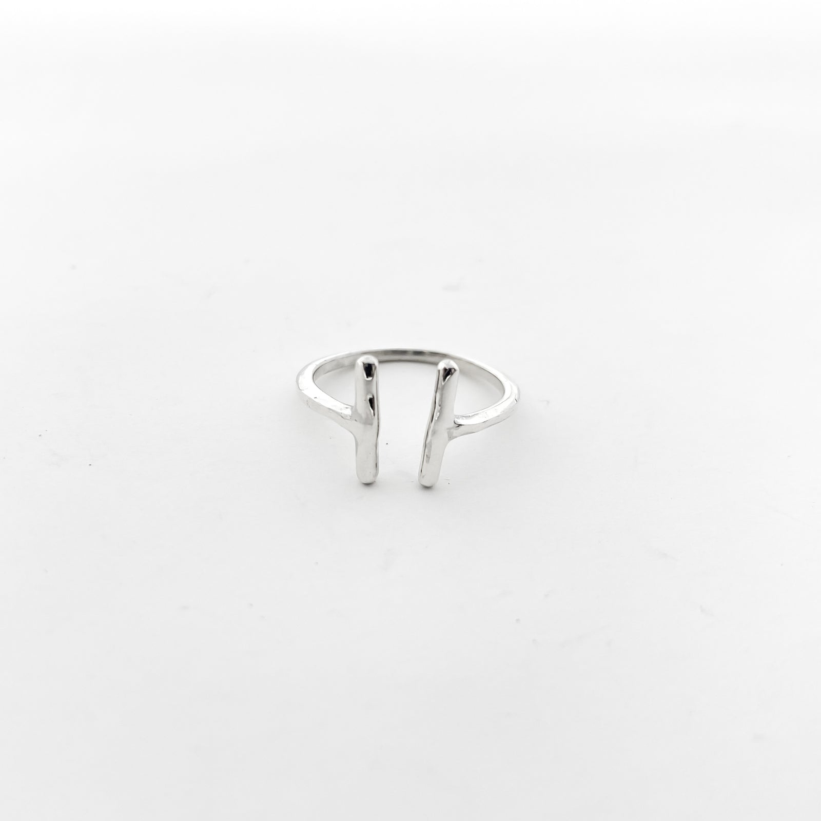 PARALLEL BARS RINGS | STERLING SILVER | SIZE OPTIONS