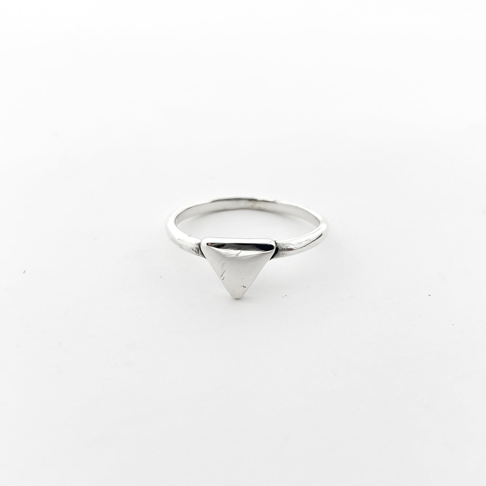 SOLID TRIANGLE RING | STERLING SILVER | SIZE OPTIONS