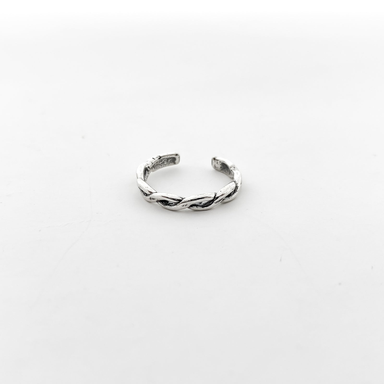 MODERN TWIST BRAID TOE RING | STERLING SILVER | SIZE OPTIONS