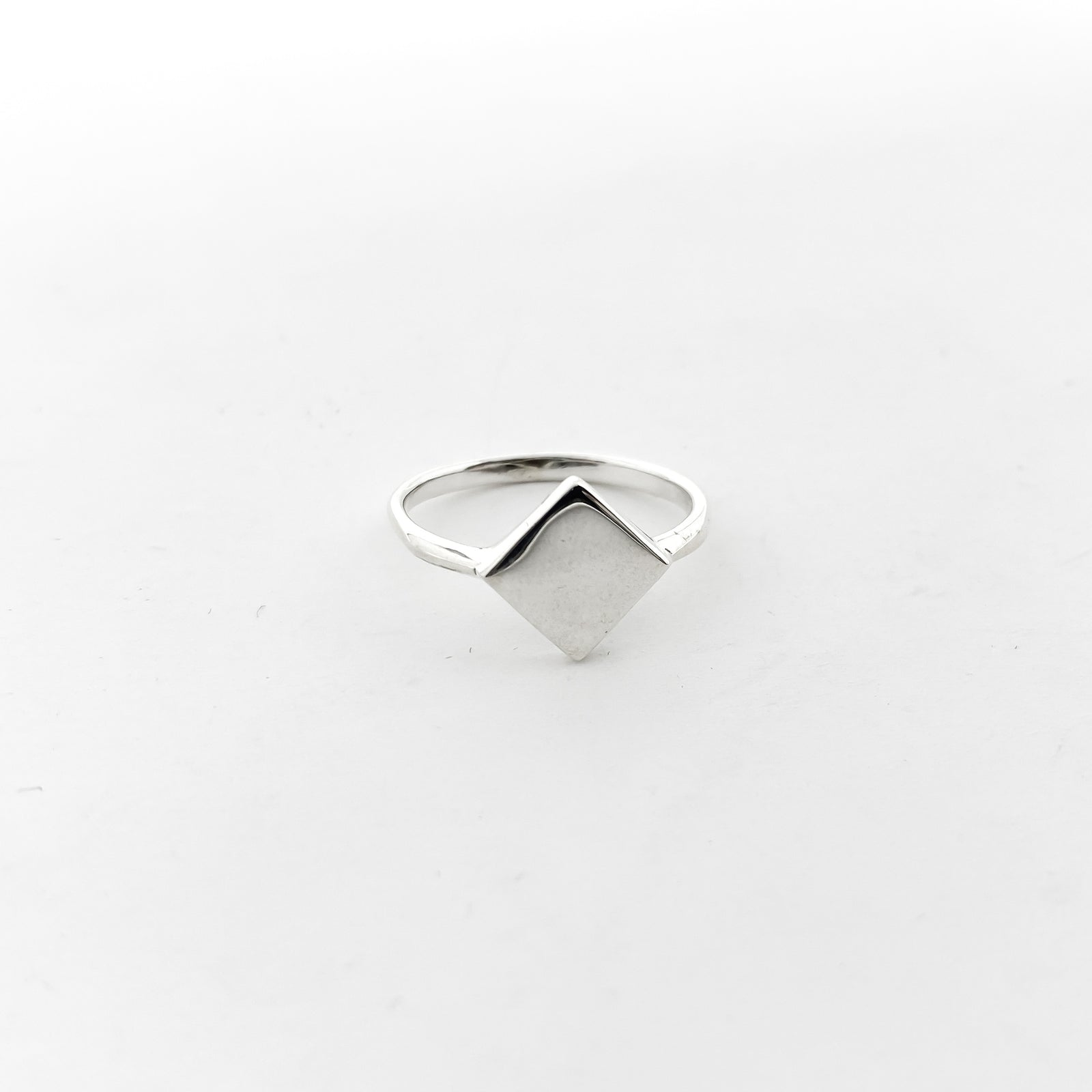 DIAMOND SHAPE RING | STERLING SILVER | SIZE OPTIONS