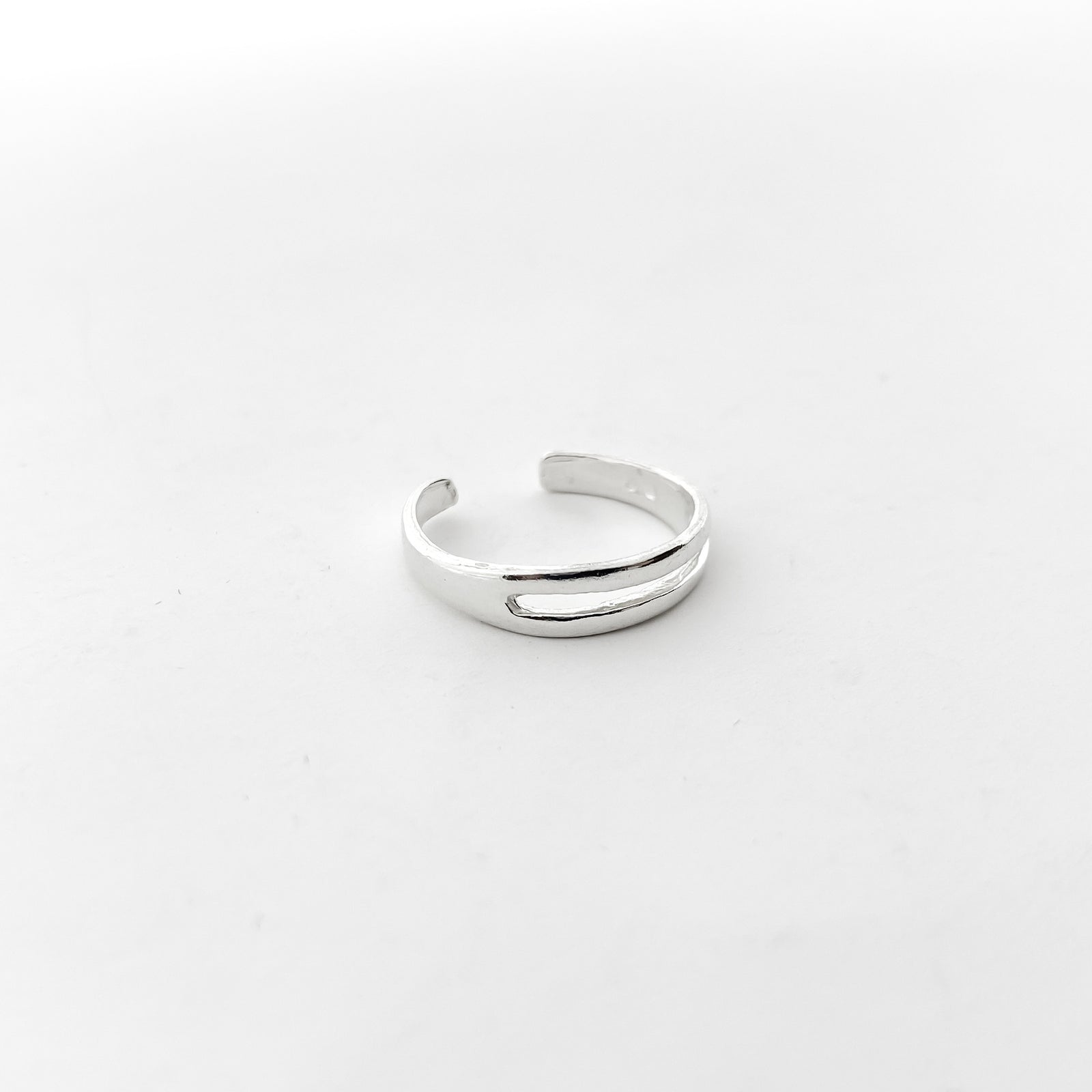 TWO WIRE TOE RING | STERLING SILVER | ADJUSTABLE