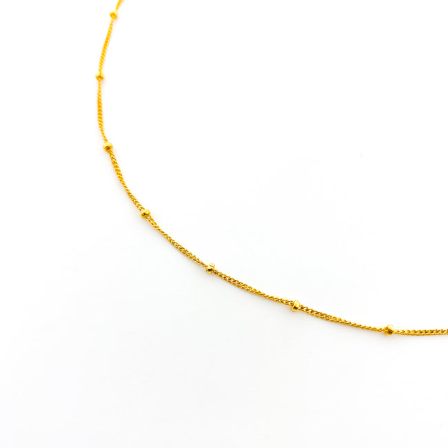 14K GOLD-FILLED SATELITE CHAIN NECKLACE