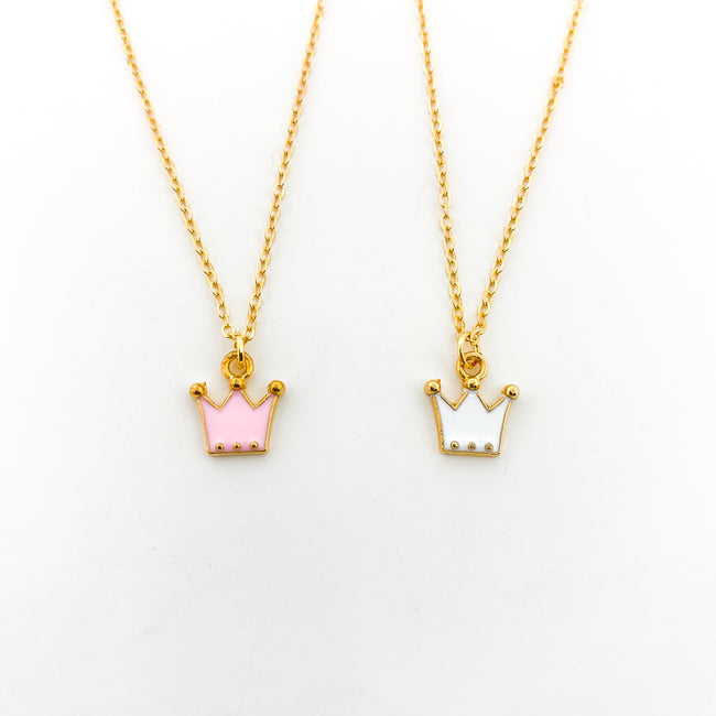 MINI CROWN NECKLACES | GOLD | STYLE OPTIONS
