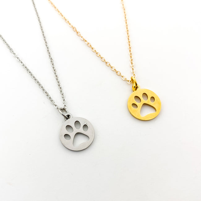 PAW PRINT NECKLACES | COLOR OPTIONS