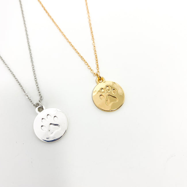 SPHERE PAW PRINT NECKLACES | COLOR OPTIONS