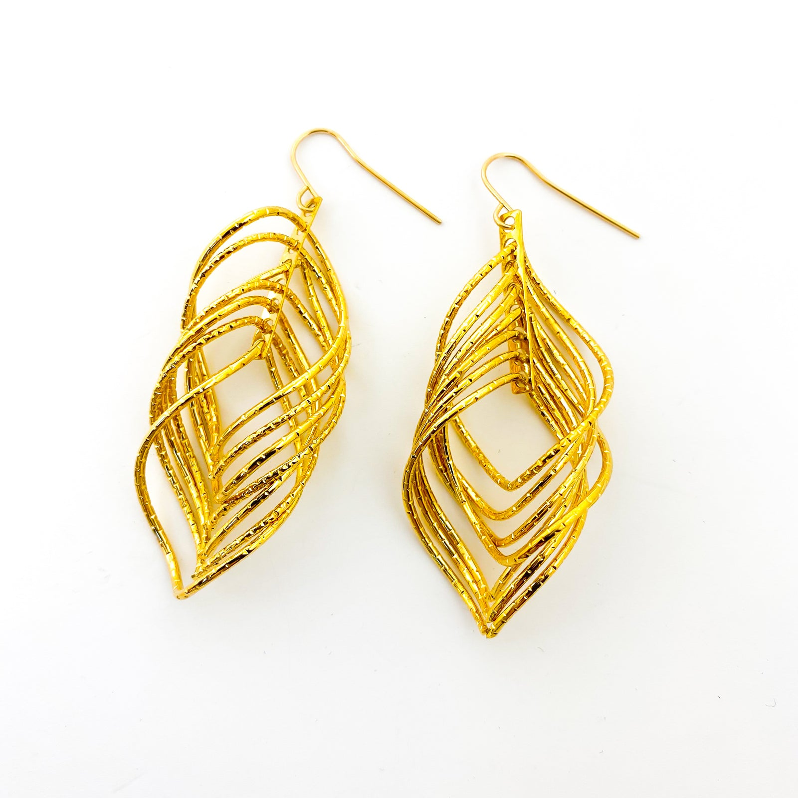 STARDUST SPIRAL EARRINGS | 18K GOLD PLATED