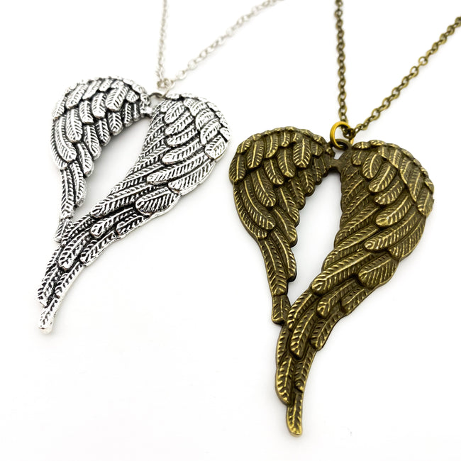 LARGE ANGEL WINGS NECKLACES | STYLE OPTIONS