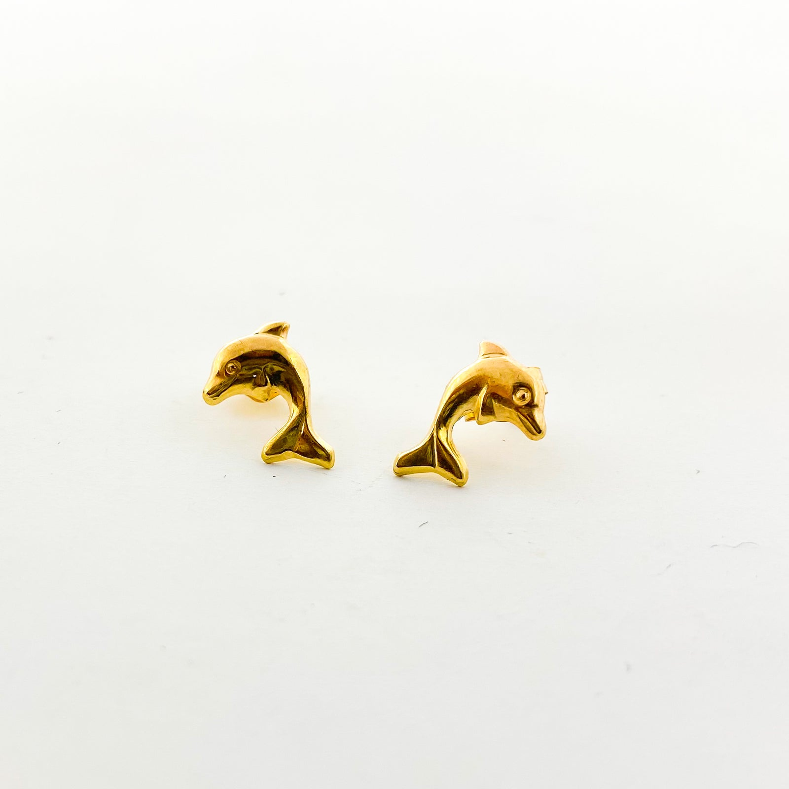 DOLPHIN STUD EARRINGS | 14K GOLD-FILLED
