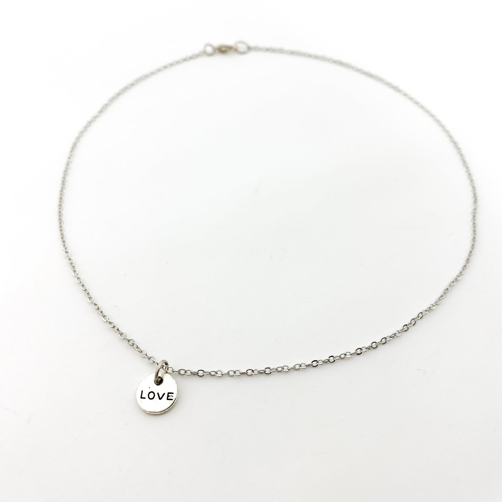 MINI DOUBLE-SIDED LOVE NECKLACE | SIVER