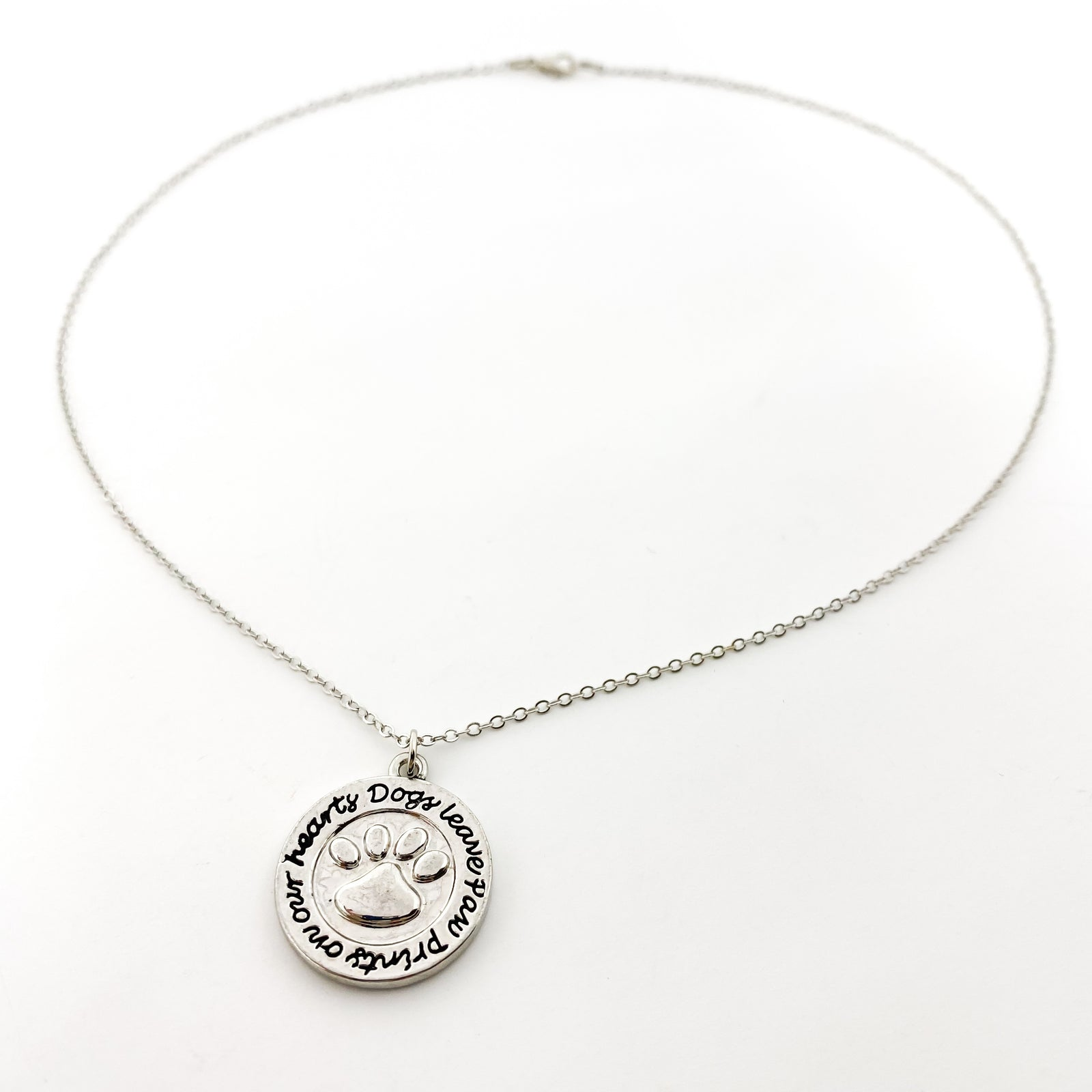 DOGS LEAVE PAW PRINTS NECKLACE | SILVER