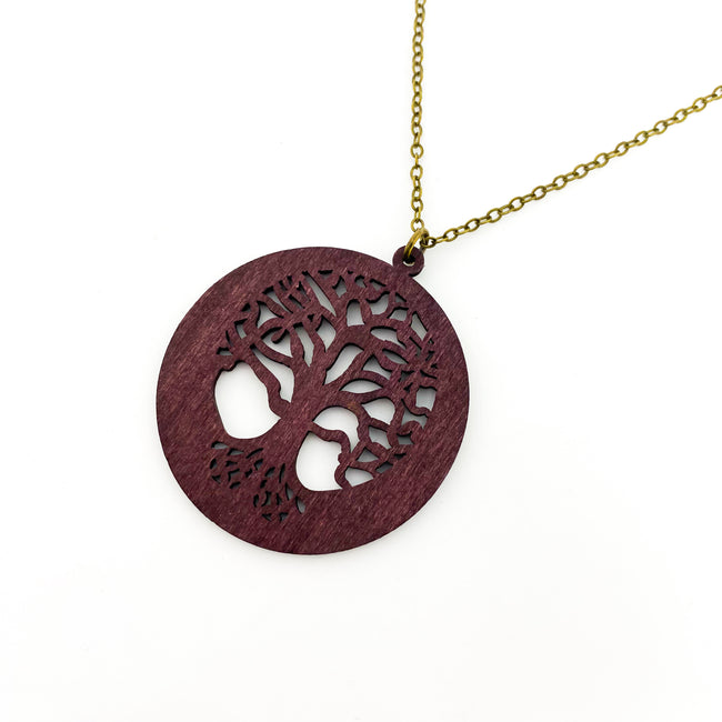 WOODEN DIFFUSER TREE OF LIFE NECKLACE | BRONZE