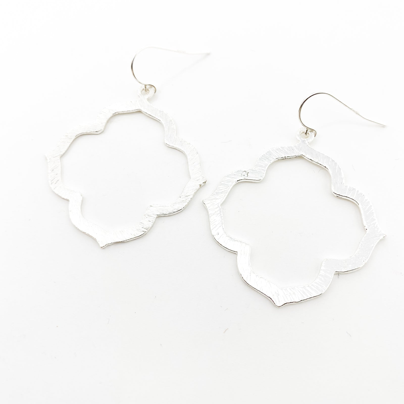 BRUSHED VAN CLEEF EARRINGS | STERLING SILVER | SIZE OPTIONS