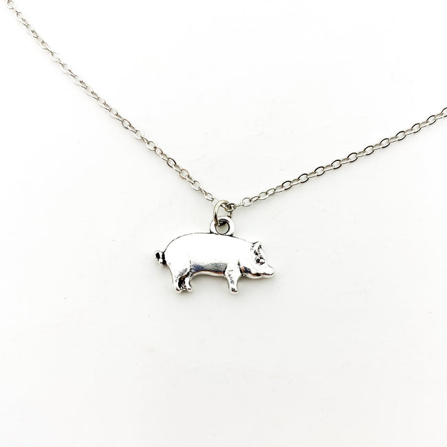 MINI PIG NECKLACE | SILVER