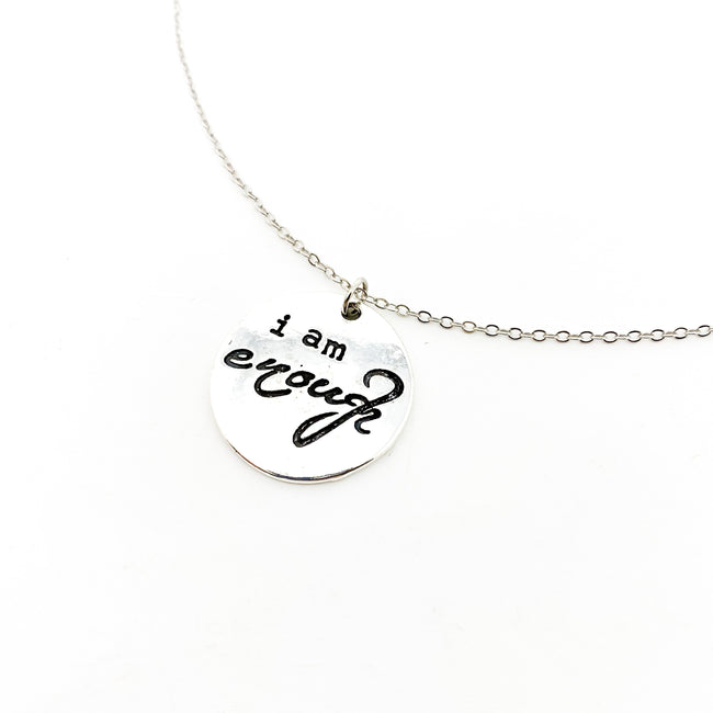 I AM ENOUGH NECKLACE | SILVER