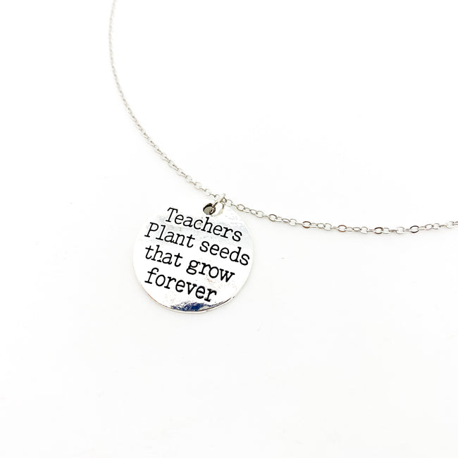 TEACHER NECKLACE | SILVER