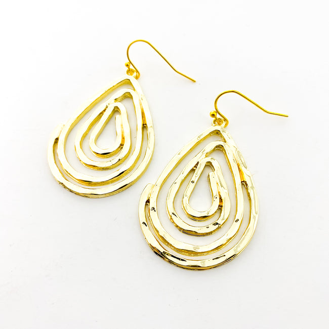 SPIRAL DROP EARRINGS | GOLD