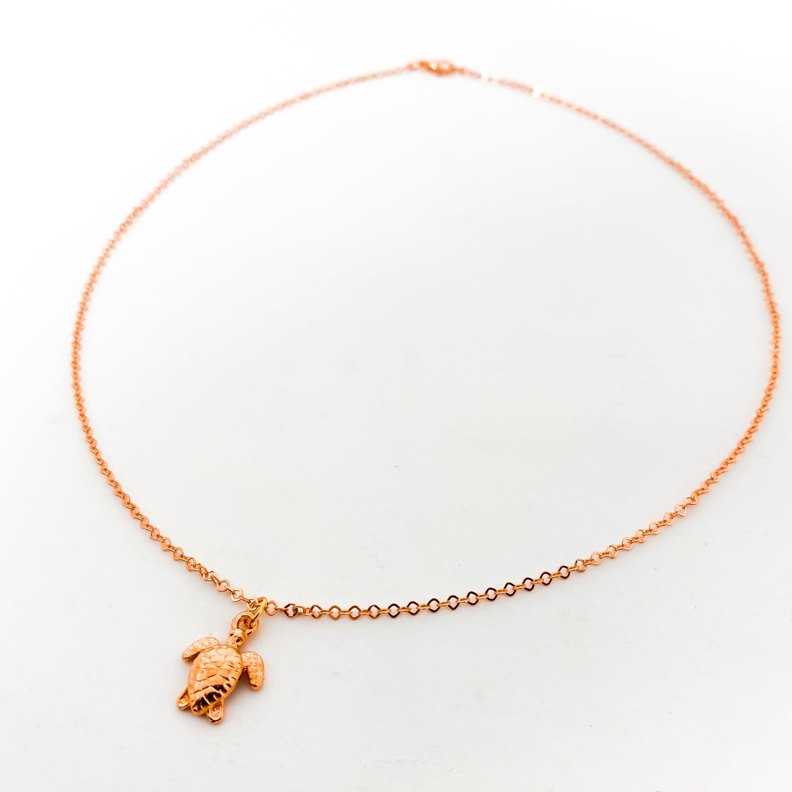 MINI SEA TURTLE NECKLACES | ROSE GOLD