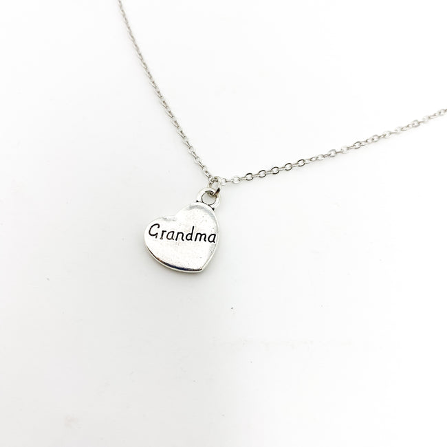 LOVED GRANDMA NECKLACE | SILVER