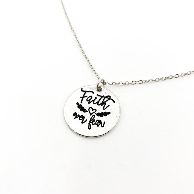 FAITH OVER FEAR NECKLACE | SILVER