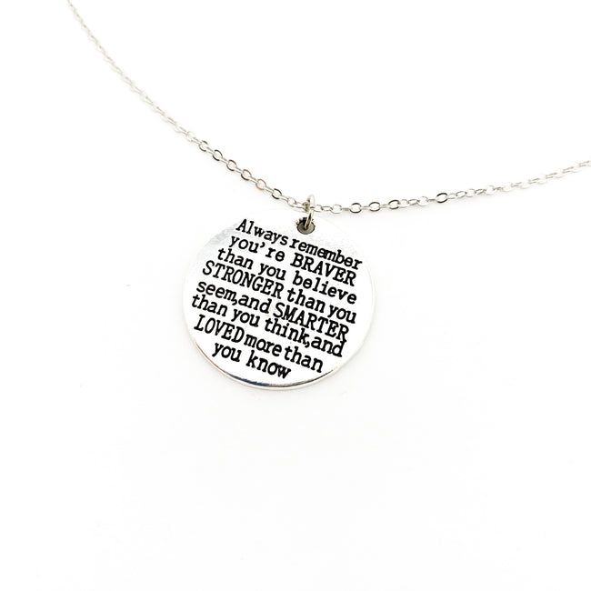 ALWAYS REMEMBER NECKLACE | SILVER