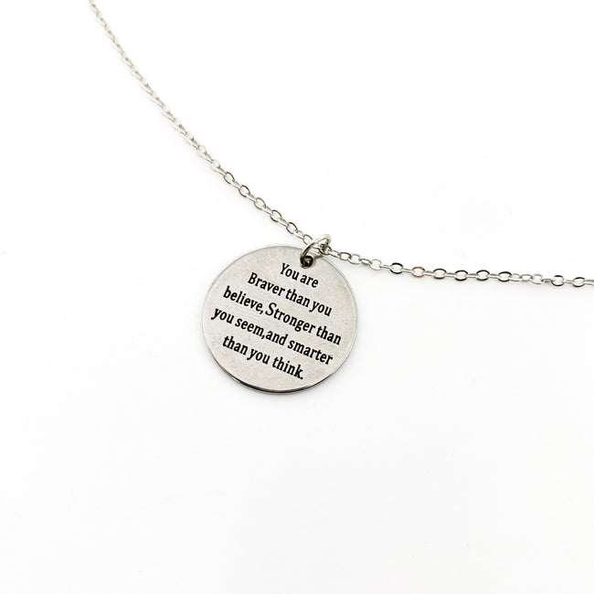 MINI BRAVER NECKLACE | SILVER