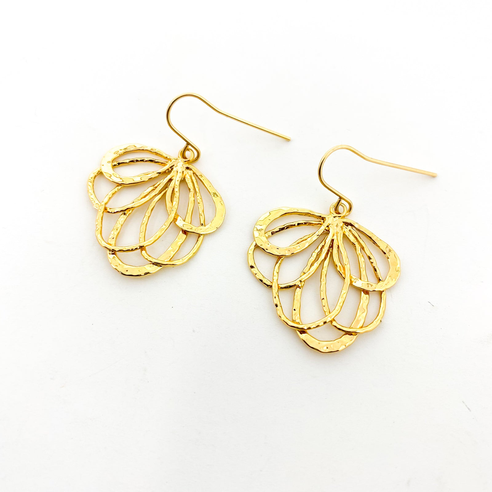 HANGING DAHLIA FLOWER EARRINGS | 14K GOLD-FILLED