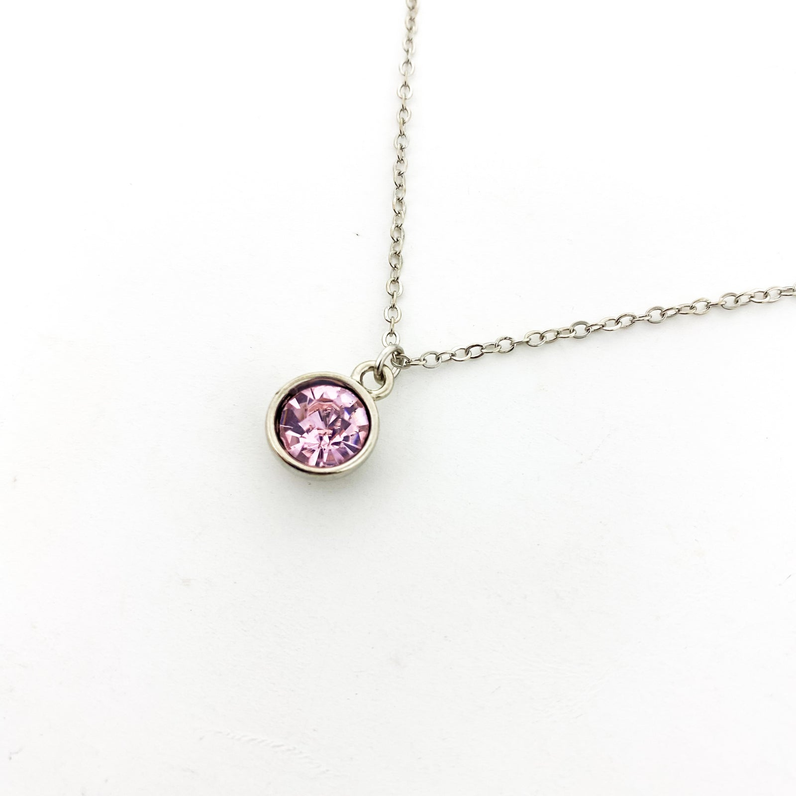 BIRTHSTONE NECKLACES | SILVER | COLOR OPTIONS