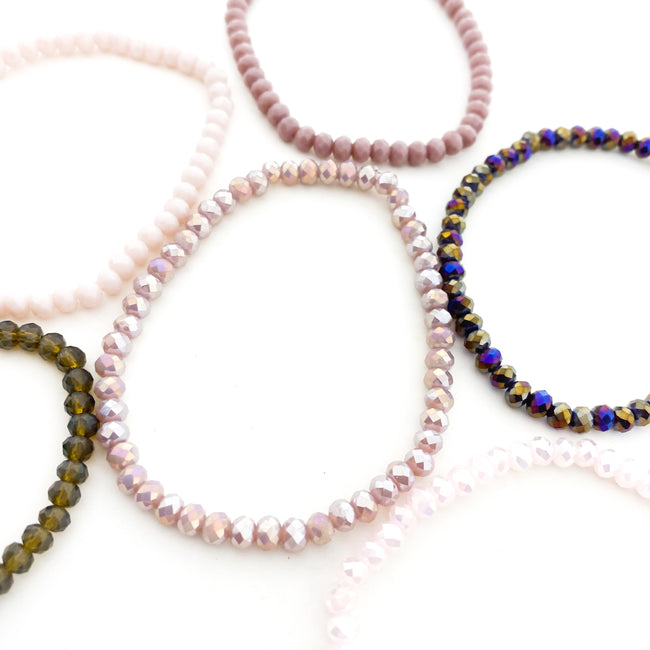 CRYSTAL BRACELETS | 4MM | PURPLES COLLECTION