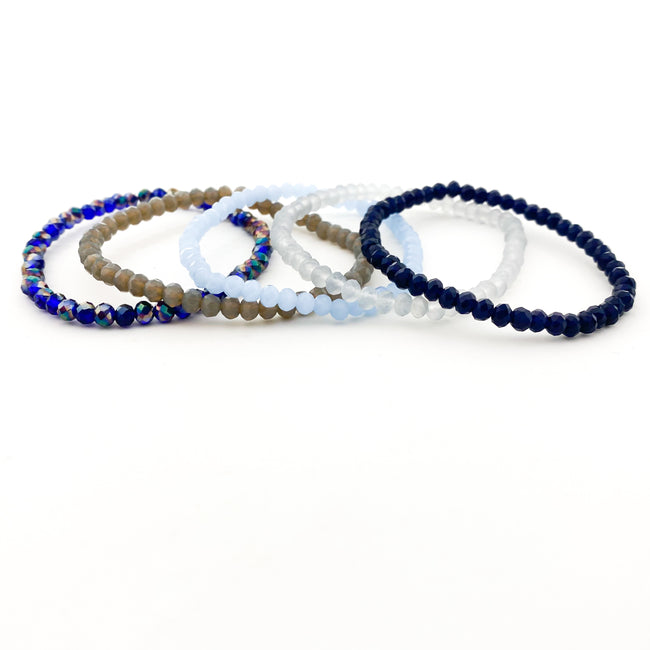CRYSTAL BRACELETS | 4MM | BLUES COLLECTION