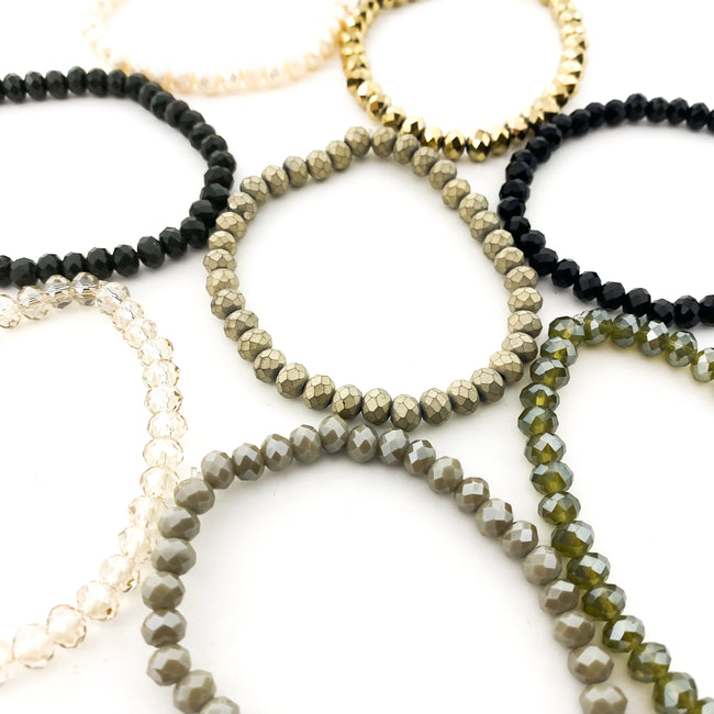 CRYSTAL BRACELETS | 6MM | GATSBY COLLECTION