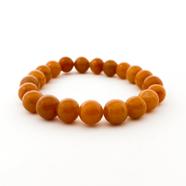BURNT ORANGE AGATE BRACELET | 10MM