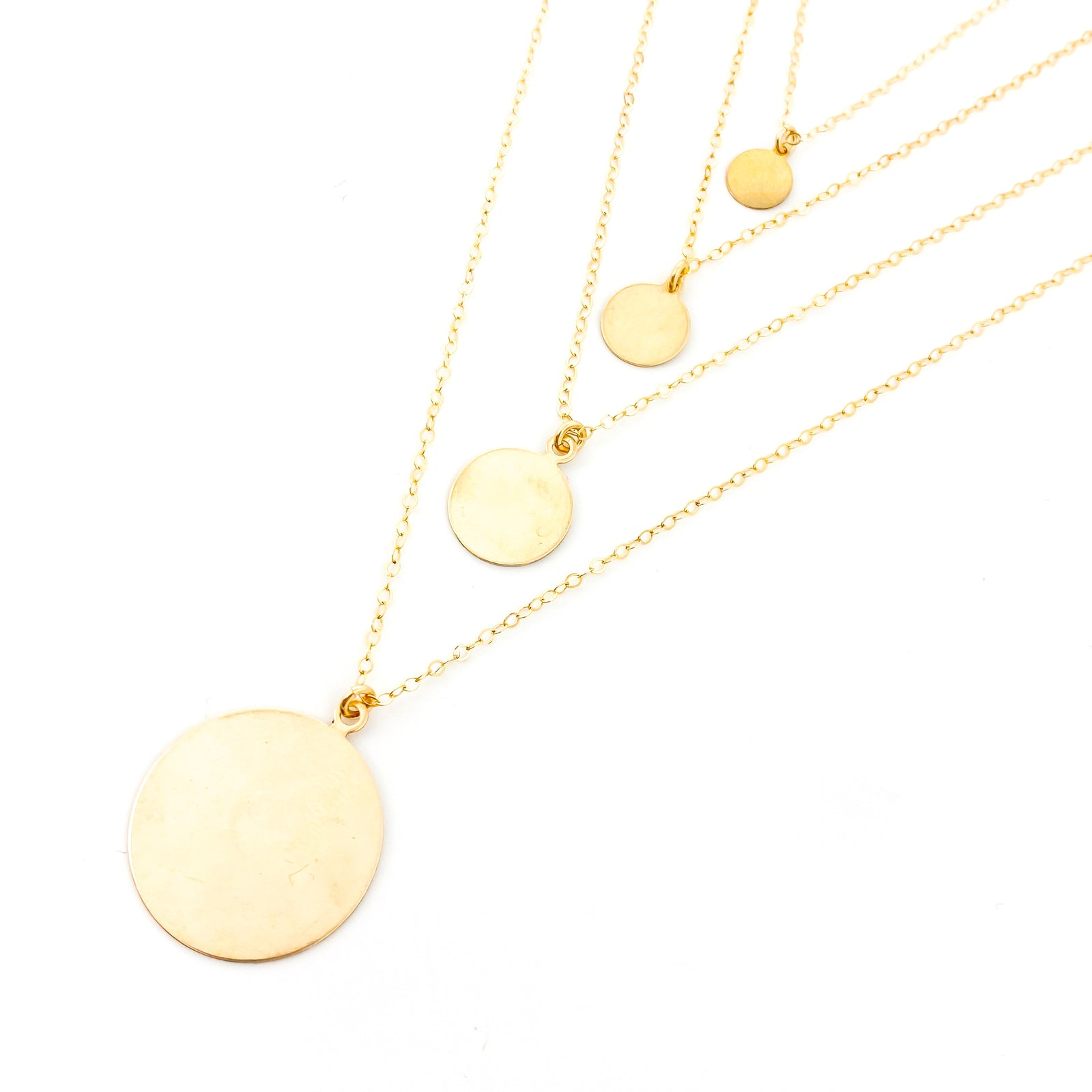 14K GOLD-FILLED DISK NECKLACES | SIZE OPTIONS