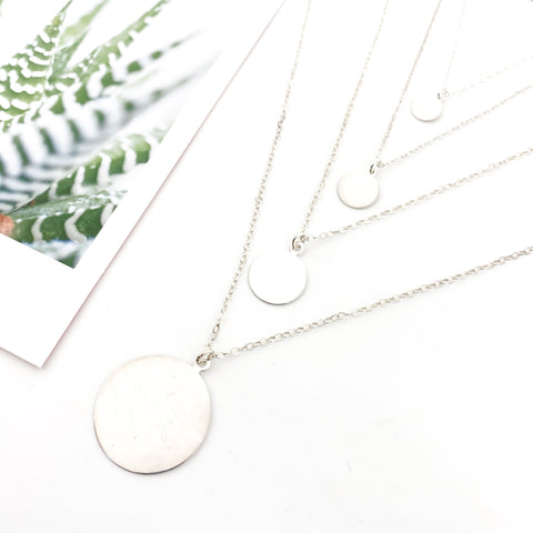 STERLING SILVER HEART NECKLACES | SIZE OPTIONS