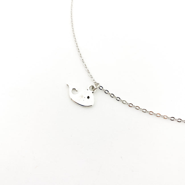 MINI WHALE NECKLACE | SILVER
