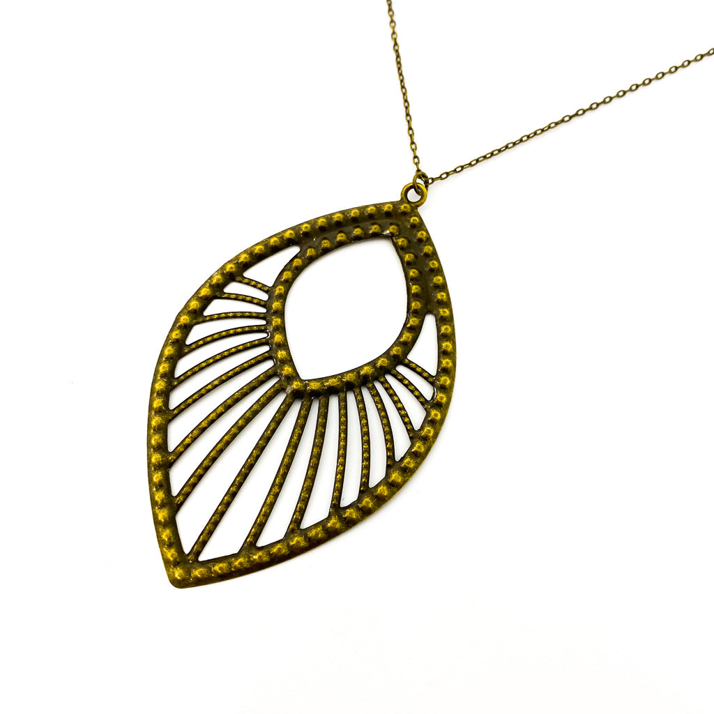 HARPER DROP NECKLACE | BRONZE
